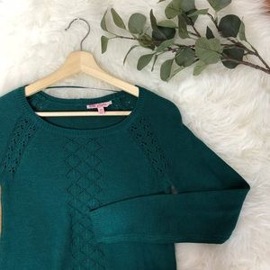 Candies green button holiday Christmas sweater
